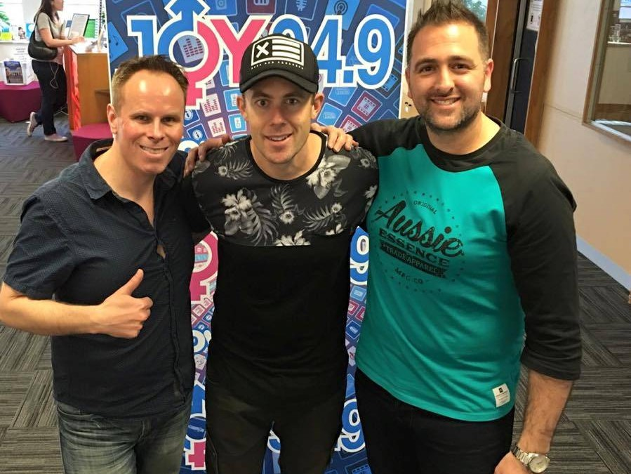 Casey Barnes – 94.9 JoyFM (with Leo and Brian) Melbourne  October 2015