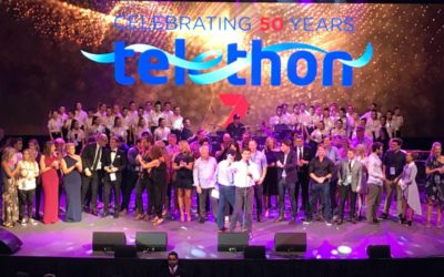 Casey Barnes, Liam Burrows and Natalie Pearson lend a hand to Channel 7 Perth Telethon