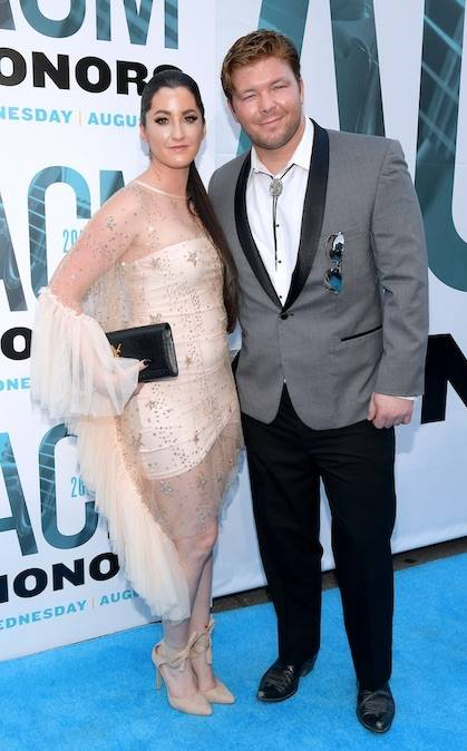 Danielle Todd and Grady James on ACM Honors Blue Carpet – The Ryman, Nashville August 2019