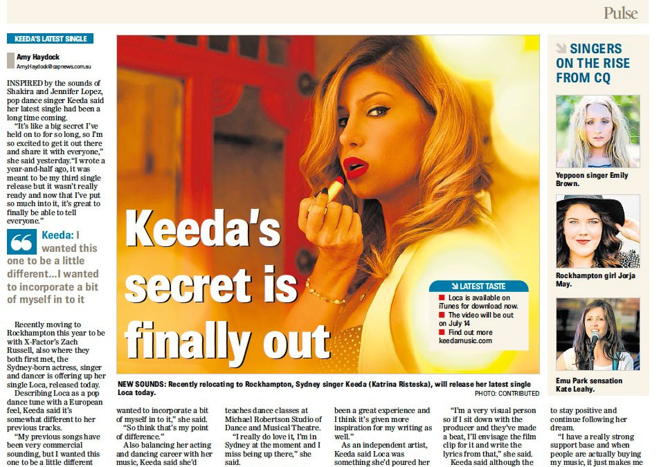 Keeda – Editorial Morning Bulletin Rockhampton 10th July 2014