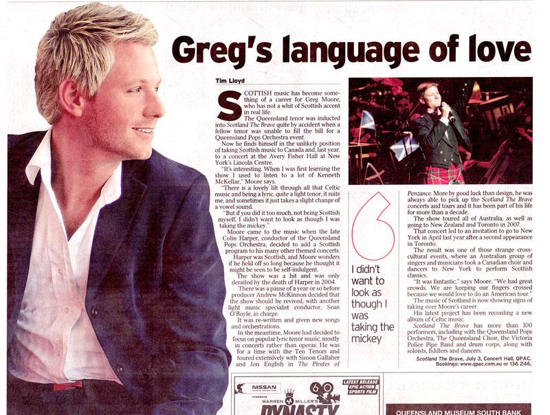 Greg's language of love